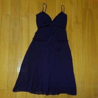 Silk dark purple dress purple gown sexy grad dinner party wedding bridemaid 絲質紫色連衣裙 連身裙 結婚婚禮 派對 晚宴