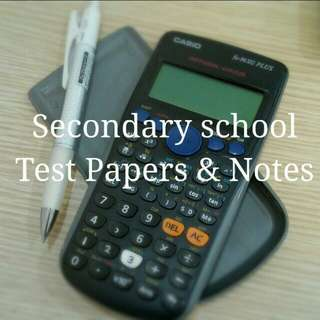 Secondary school notes