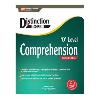 O level Comprehension Marshall Cavendish Distinction in English