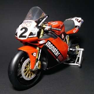 Minichamps 1:12 Scale Ducati 998R British Superbike 2002 Steve Hislop金屬 合金 電單車模型 (used)