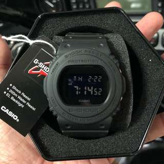 Authentic Original DW-5750E Military Matte Tactical Stealth Blackout Series! Casio Sale Offer Brand New Full Box! Limited Stock First Come First Served 😎👍