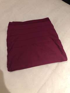 Kookai Burgundy Skirt