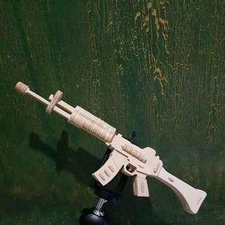 3D wooden puzzle carbine