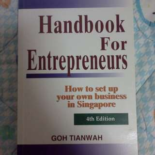 Handbook for entrepreneurs