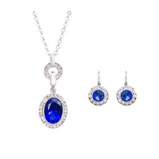 Luxury Woman's necklace set - Majestic Azure