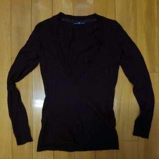 Burgundy gap sweater ladies warm good quality 棗紅色 gap 女裝冷衫上衣