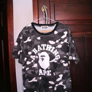 A Bathing Ape Black and White Camo Tee