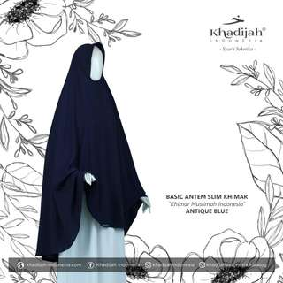Khimar basic antem slim antique blue by khadijah