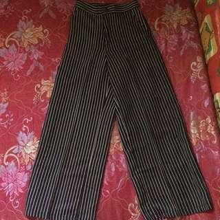 Kulot stripe pants
