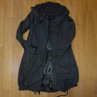 Japan brand transit army colour jacket light thin 日本女裝 軍綠色外套 勁多details位 易襯 舒服