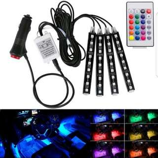 Car led 4 strips full set with cig port