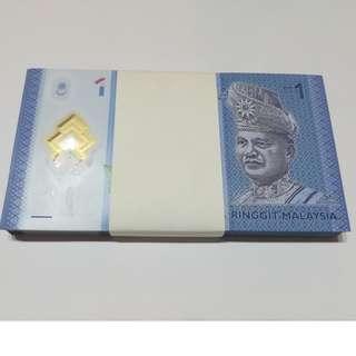 (BW) AA5518001-100 First Prefix RM1 ZETI UNC 1 Stack / 100 pcs