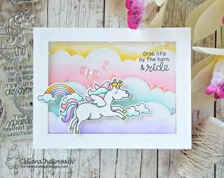 Unicorn Card Making Rubber Stamp