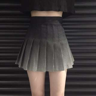 [PO] gradient a line pleated skirt