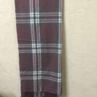 🚚 粉色 韓國 格紋 長 圍巾