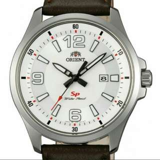 Orient watch with authentic leather