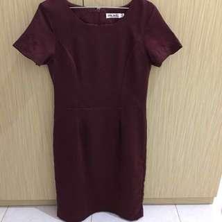 Mint red midi dress