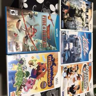 Wii and Wii U games (preowned)