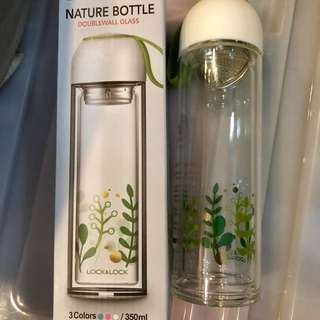 Lock & Lock double wall glass bottle 350 ml.