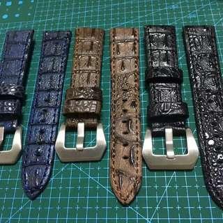 沛納海Panerai真皮鱷魚紋代用錶帶