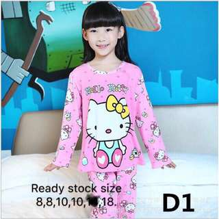 Hello Kitty kids Pyjamas 4y to 15y
