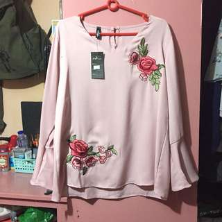 Pink Bell Sleeve Top