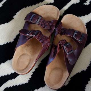New! Sandal Birken stock look a like kulit asli model 4