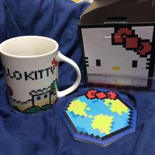 Hello Kitty 杯 連 陶瓷 杯墊