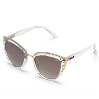 QUAY x Tony Bianco My Girl Clear Brown Sunglasses
