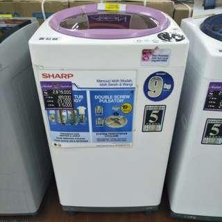 Mesin cuci sharp 1 tabung promo cicilan tanpa kartu kredit