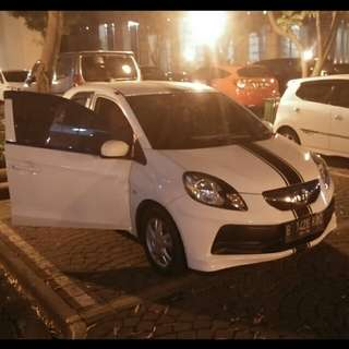 Honda Brio cbu e at 2013 modif interior kulit n audio nego
