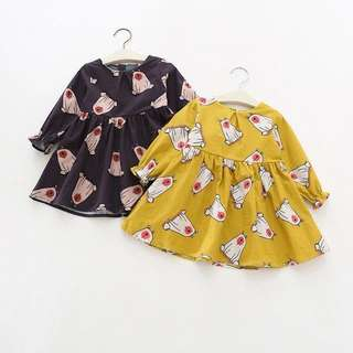 Baby Girl Bear Dress (CLEAR STOCK)