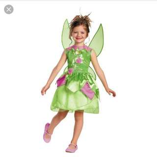Disney fairies Tinker Bell costume with wings