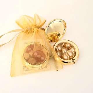 Elizabeth Arden Ceramide Gold Ultra Restorative Capsules~ 2 sets (7 pieces each in a mirror case) 黃金面頸部濃縮精華液