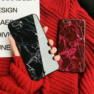 ⚠Pre-order! Cool glass marble stone coloured fully wrapped design phone cover for IPhone 6, 6s, 6 plus, 6s Plus, 7, 7 plus, 8, 8 Plus, X and OPPO R9, R9s, R9Plus, R9s Plus, R11, R11 Plus, R11S & R11S Plus only! (Enquire for availability!)