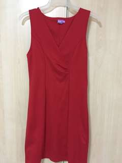 NY red bodycon dress