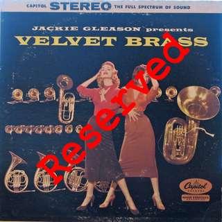 velvet brass, Vinyl LP, used, 12-inch original pressing