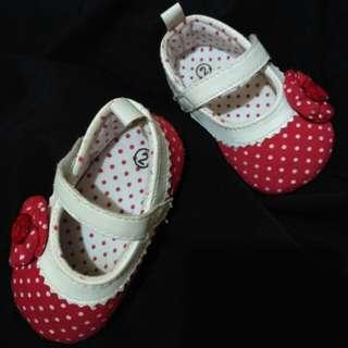 #imlekhoki Sepatu Bayi Perempuan Polkadot