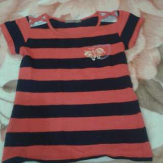 Red and black stripes shirt