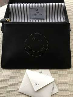 Anya Hindmarch leather pouch handbag