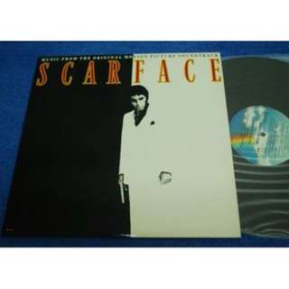 SCARFACE Motion Picture Soundtrack Vinyl LP Record Piring Hitam