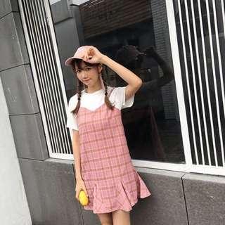 [PO] fake 2 piece ulzzang dress