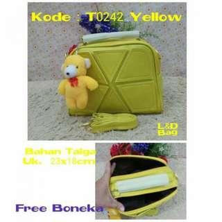 TiaTMT Tas Murah/ Tas Lokal Murah/ Tas Wanita Murah (T0242 yellow, dongker, maroon, brown) (no barter, no nego)