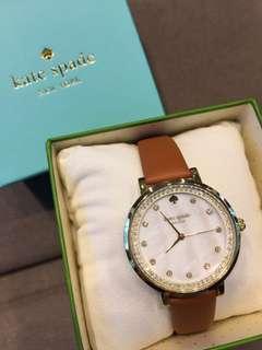 Kate Spade 女裝啡色真帶手錶
