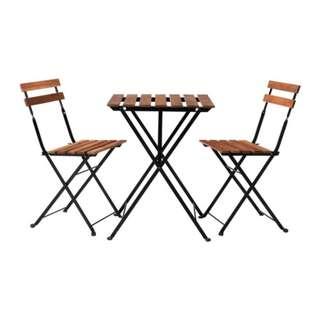 Ikea outdoor foldable table and chair