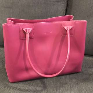 Agnes B shocking pink shoulder bag