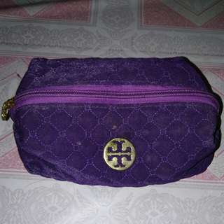 Tory Burch makeup case (dark purple)