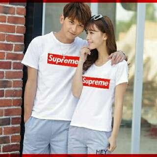 vf KAOS CP T-shirt SUPREME HITAM/ PUTIH TERMURAH