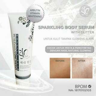 TiaBC [SYB] Sparkling Body Serum /Option Pemutih Tubuh Instant Glow  (no barter, no nego)