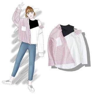 [PO] lisa stripes shirt